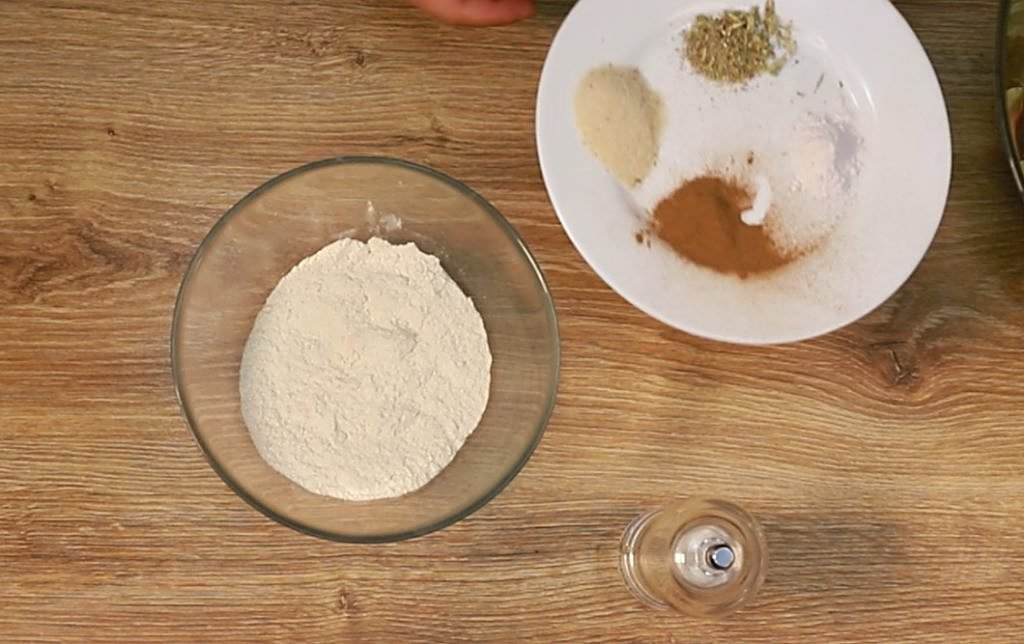 Combine the flour-cinnamon-cardamom-spices