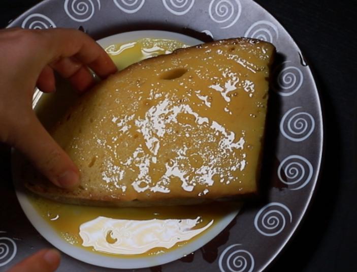 soak bread in eggs