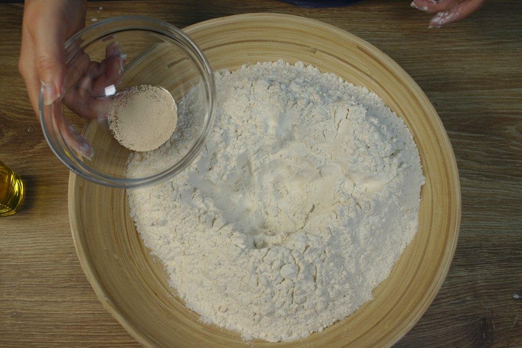 bread recipe - flour and baking powder