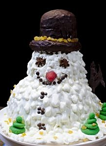 snowman cake – gateau au chocolat for winter holidays